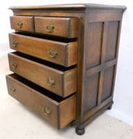 Antique Style Oak Chest of Drawers by Reprodux - SOLD